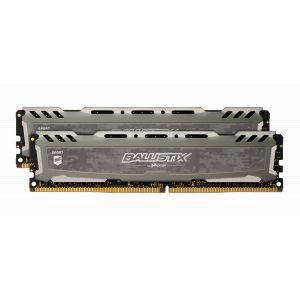 Crucial DDR4 Sport LT, Rouge, 32 Go (2 x 16 Go), 3200 MHz, CAS 16 (25 % de réduction avec le code POW )
