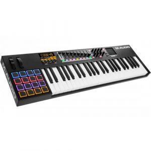 M-Audio CODE 49 - Clavier Maître MIDI 49 Touches AfterTouch avec Pad Tactile X/Y, 16 Pads, 9 Faders + Logiciels VIP.30, Ableton Live Lite, Hybrid 3.0 et Loom Inclus - Noir
