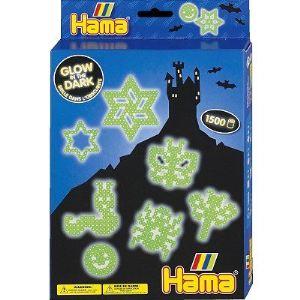 Hama Boîte de perles à repasser : Phosphorescente