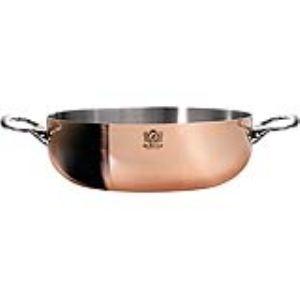 Image de De Buyer 6232.28 - Sauteuse bombée Prima Matera 2 anses en cuivre et inox (28 cm)