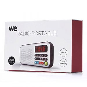 WE Radio portable rechargeable