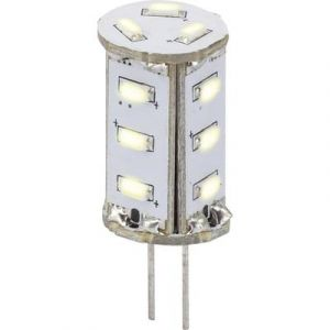 Sygonix Ampoule LED G4 LN-04-15NS-TR-30D-CW-00 à broches 0.8 W = 5 W blanc froid (Ø x L) 13 mm x 33 mm EEC: A 1 pc(s)