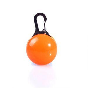 WeWoo Lampe De Poche Led Chien Collier Chat Rougeoyant Pendentif Lumineux Colliers Décoration (Orange)