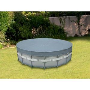 Intex 57900 - Bâche de protection Deluxe Ø 5,44 m pour piscine tubulaire ronde Ø 5,49 m