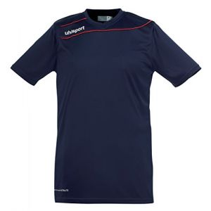 Uhlsport Stream 3 Manches Courtes Maillot Homme, Bleu Marine 14/Rouge, FR : XXL (Taille Fabricant : XXL)