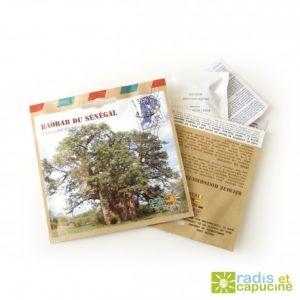 Radis et capucine Graines de Baobab du Senegal en sachet