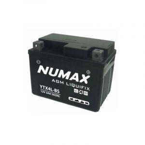 Numax Batterie moto Premium AGM avec pack acide YTX4L-BS 12V 3Ah 50A