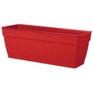 Deroma Jardinière plastique à réserve d'eau L.57.6 x l.17.6 x H.17.4 cm rouge