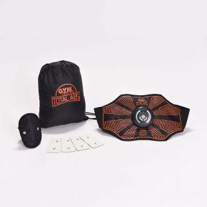 Gym Form Ceinture d'électrostimulation total abs Noir Orange - Taille Taille Unique