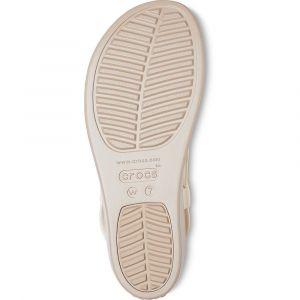 Crocs Sandales BROOKLYN LOW WEDGE W Beige - Taille 41,36 / 37,38 / 39,42 / 43,42 1/2,37 1/2,38 1/2,36 1/2,39 1/2,37 / 38,39 / 40,41 / 42