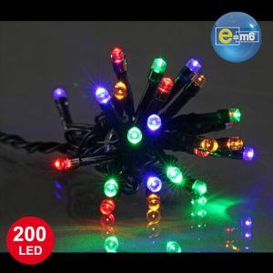 E=M6 Guirlande lumineuse 200 led - multicolore