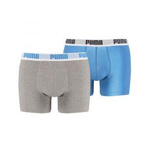 Puma Vêtements intérieurs -underwear Basic Boxer 2 Pairs Pack - Blue / Grey - Taille XL