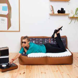 Woouf Pouf rectangulaire géant de salon Sofa Moog en tissu déhoussable