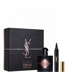 Yves Saint Laurent Black Opium - Coffret eau de parfum et Couture Eyes Marker Feutre Yeux n°1