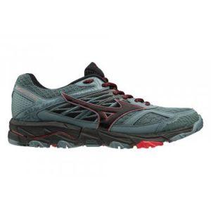 Mizuno Wave Mujin 5 Chaussures de Trail Homme, Gris (Quarry/Black/Brilliant Blue 09) 42 EU