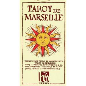 Héron Tarot de Marseille de Conver (78 lames livret français)