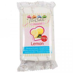 FunCakes Pâte à sucre Blanche goût Citron 250g