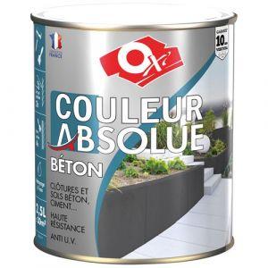 Durieu Peinture Couleur Absolue béton mat 2.5 L - gris antique - Peinture façade, Crépi - OXI