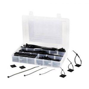 Tru Components Assortiment de serre-câbles 190 mm noir EPR-350UV 1566622 EPR-350UV 1 set