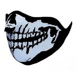 "Accent Masque Protection Demi Cagoule Neoprene ""Ghost Tete de mort - Skull"""