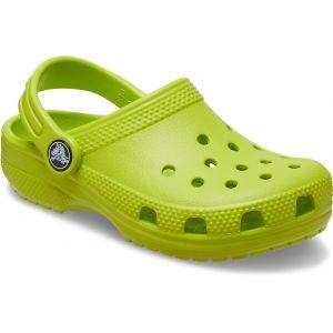 Crocs Classic Clog Kids, Sabot Unisexe Enfant, lime punch, 34/35 EU