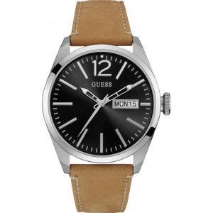 Guess W0658G - Montre pour homme avec bracelet en cuir