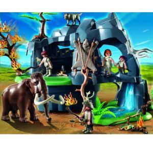 Image de Playmobil 5100 - Grotte préhistorique avec mammouth