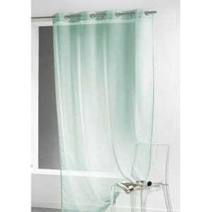 Homemaison Voilage Sablé Uni et Coloré Vert d'eau 140 x 240 cm