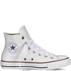Converse Chuck Taylor All Star Leather Hi W - Baskets Femme, Blanc