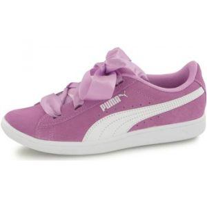 Puma Chaussures enfant Baskets Vikky Ribbon Violet K