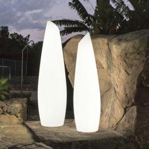 New Garden FREDO-Lampadaire d'extérieur LED avec câble H140cm Blanc