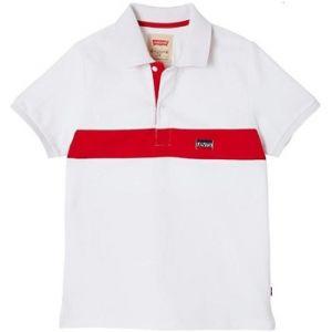 Levi's Polo enfant POLSPORT ECRU blanc - Taille 4 ans,5 ans,6 ans,8 ans,10 ans,12 ans,14 ans,16 ans