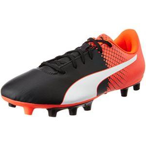 Puma Evospeed 5.5 FG - Chaussures de Football - Homme - Noir Black White-Red Blast 03-41 EU (7.5 UK)