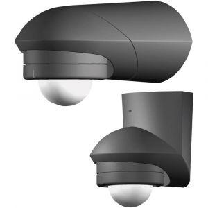 Grothe Détecteur de mouvements PIR 94535 pour l'intérieur, pour l'extérieur en saillie 360 ° relais noir IP55