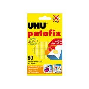 UHU Patafix 50140 Pâtes adhésives à 80 pastilles repositionnables prédécoupées