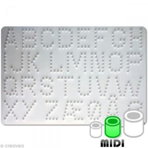 Hama Plaque pour perles - MIDI - lettres - 272