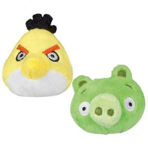 Asqsortiment de 24 peluches Fuzzy Angry Birds