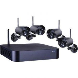 Smartwares 10.011.89 - Kit de vidéosurveillance sans fil enregistreur + 4 caméras connectées