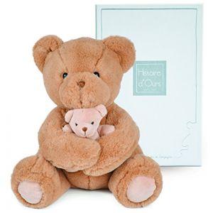 Histoire d'ours Peluche Maman et bébé Ours beige
