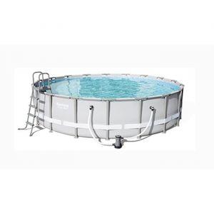 Bestway Kit piscine ronde Power Steel Frame Pool - Ø 549 x H 132 cm