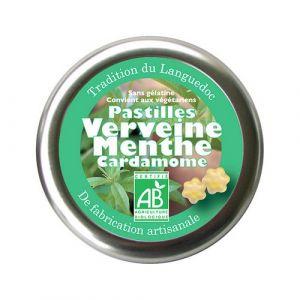 Aromandise Pastilles Verveine Menthe Cardamome 45g