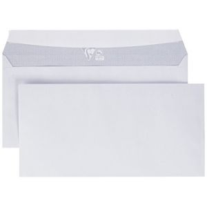 Clairefontaine 692C - Boîte de 500 enveloppes Adhéclair blanches, adhésive avec bande, 80 g/m², DL