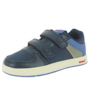 Kickers Baskets basses enfant GREADY LOW CDT bleu - Taille 28,29,30,31,32,33,34,35