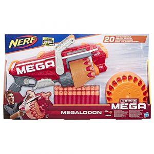 Hasbro Blaster Megalodon + 20 fléchettes N-Strike Mega