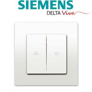 Siemens Interrupteur Volet Roulant Blanc Delta Viva + Plaque Blanc