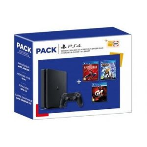 Sony Consoles PS4 PACK PS4 500 GO + MARVEL'S SPIDER-Man + GT Sport + Ratchet & Clank