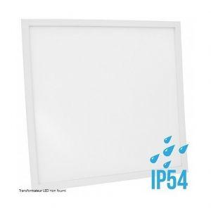 Delitech Blanc Neutre - Dalle LED-Cadre Blanc-60x60cm-30W-IP54-Nova (Alimentation non fournie)