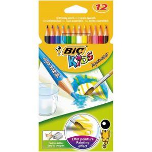 Bic 12 Crayons de couleur Aquarellable assortis