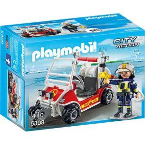 Playmobil 5398 - City Action : Chef des pompiers avec voiturette