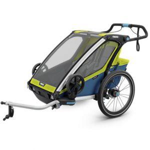 Thule Remorque de vélo enfant Chariot Sport 2 Chartreuse Mykonos 2019 vert
